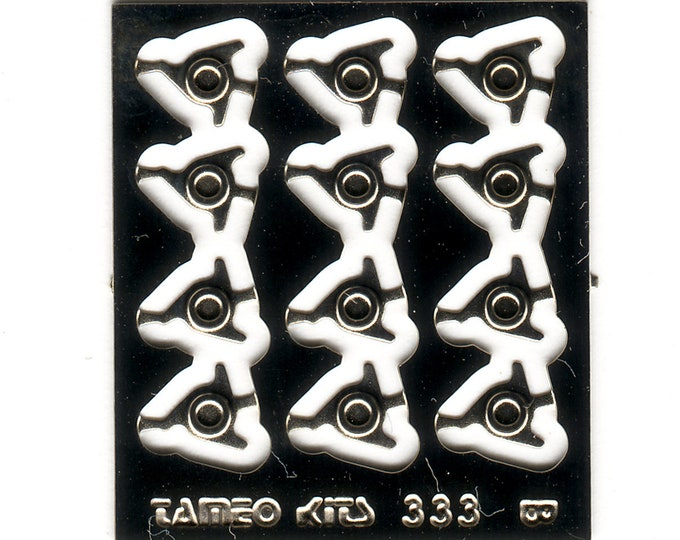 photo etched 1:43 three spokes wheelspins type-B(12 pieces) Tameo FT47