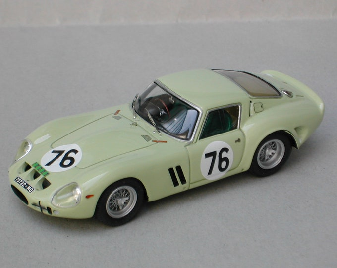 Ferrari 250 GTO 3505GT Peco Trophy Brands Hatch 1962 #76 Ireland Remember Models kit 1:43