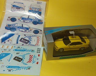 high quality 1:43 decals BMW 318is/4 Supertouring Team Motorola Macau 1994 (only decals or option including Minichamps base)