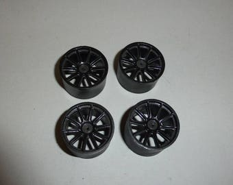 Set of 1:18 10-spokes wheels for racing and sport cars high definition (gun metal)