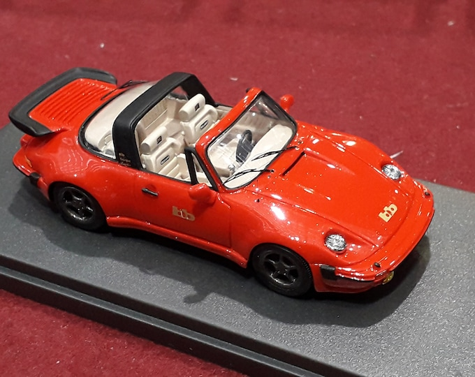 Porsche 911 Turbo Targa Buchmann Special 1980 metallic orange with cream interiors REMEMBER Models 1:43 - Factory built