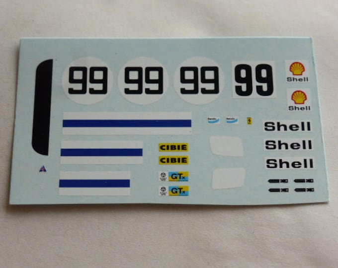 high quality 1:43 decals Ferrari 365 GT4/BB NART Le Mans 1975 #99
