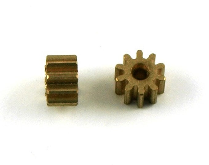 pack of 2 brass pinions for slot cars engines GTS Série Le Mans Miniatures slot cars 1:32 SPA132044