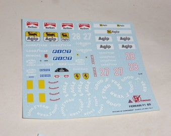high quality 1:24 decals sheet for Ferrari F1-89 Formula 1 1989 Mansell and Berger