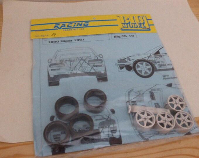 1:24 transkit for Subaru Impreza WRX Bulgari Rally Mille Miglia 1997 Dallavilla (decals+wheels+tires+spoiler) RACING43 Big-TK19
