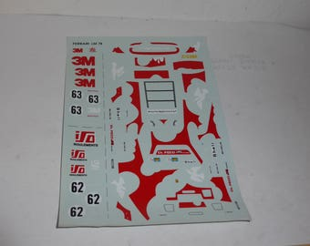 high quality 1:43 decals Ferrari 512 BB-LM 3M-ISO Charles Pozzi Le Mans 1979 #62/63