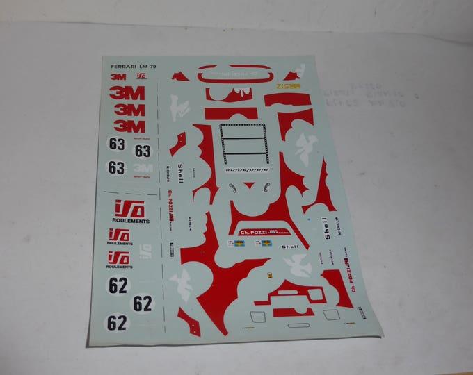high quality 1:43 decals Ferrari 512 BB-LM 3M-ISO Charles Pozzi Le Mans 1979 #62/63