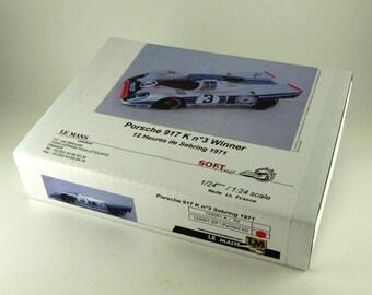 Porsche 917K Martini 12h Sebring 1971 winner Larrousse/Elford Le Mans Miniatures 1:24 KIT 124061