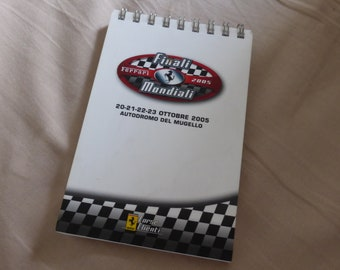 Finali Mondiali Ferrari Challenge Mugello 20-23 October 2005 official ring notebook