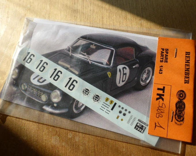 high quality 1:43 decals Ferrari 250 GT SWB Le Mans 1960 #16 Madyero by Remember TK-SWB1