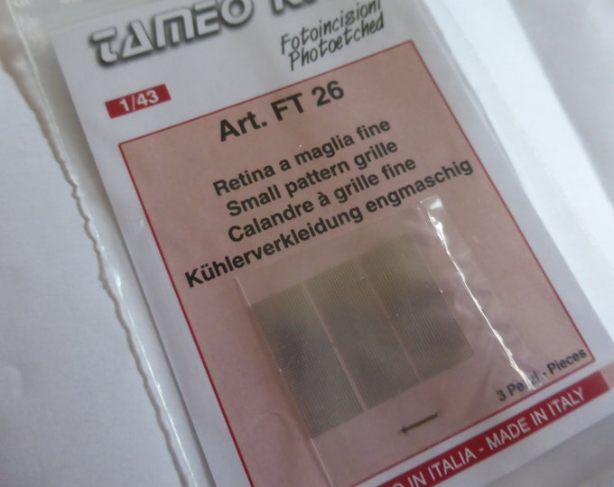 photo etched 1:43 small pattern grille for radiators, inlets etc (3 pieces) Tameo FT26