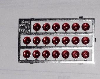 high quality photoetched+resin lights round red mm 3.0 FLFM3.0 for model cars and other models