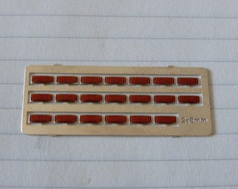 high quality photoetched+resin lights rectangular red mm 2.0x5.0 FLR25 for model cars and other models