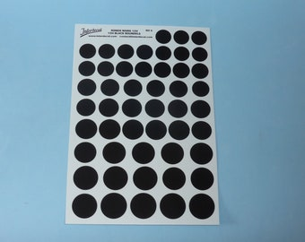 decals for racing numbers roundels (black) 1:24 scale Tin Wizard RO5