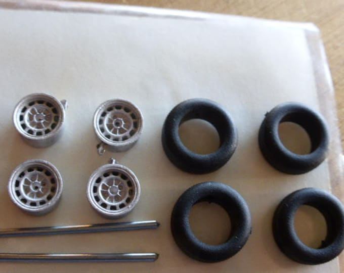 white metal  wheels for Lancia Fulvia and other cars 70s Carrara Models 67 1:43