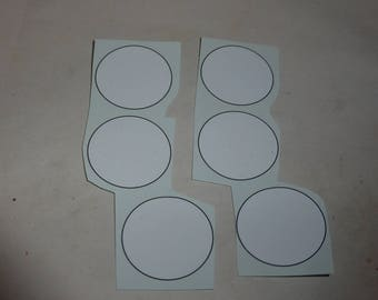 racing number 1:18 white roundels with black frame (mm 28.0) 01DE18