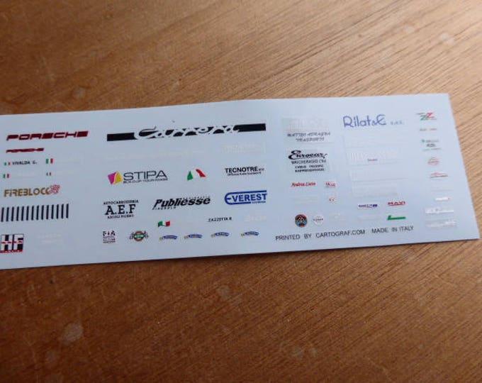 high quality 1:43 decals different logos Everest, Porsche, Stipa, FIA Historic, HF, etc