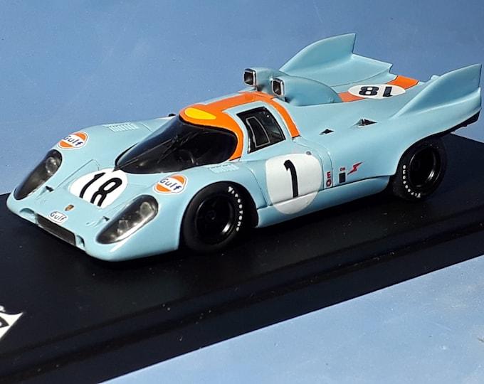 Porsche 917K snorkel version Gulf Le Mans 1971 trials REMEMBER Models 1:43 factory built