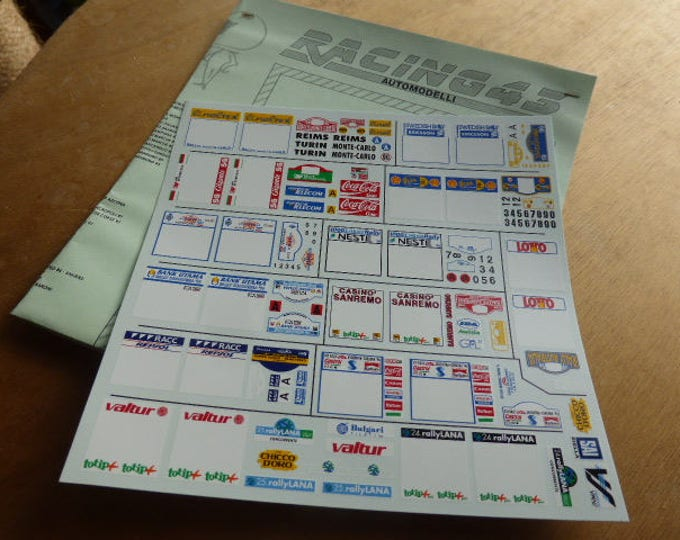 high quality 1:24 decals sheet 1996 rally season (Montecarlo, Sweden, Portugal, 1000Lakes...) Racing43 BIG-TK21