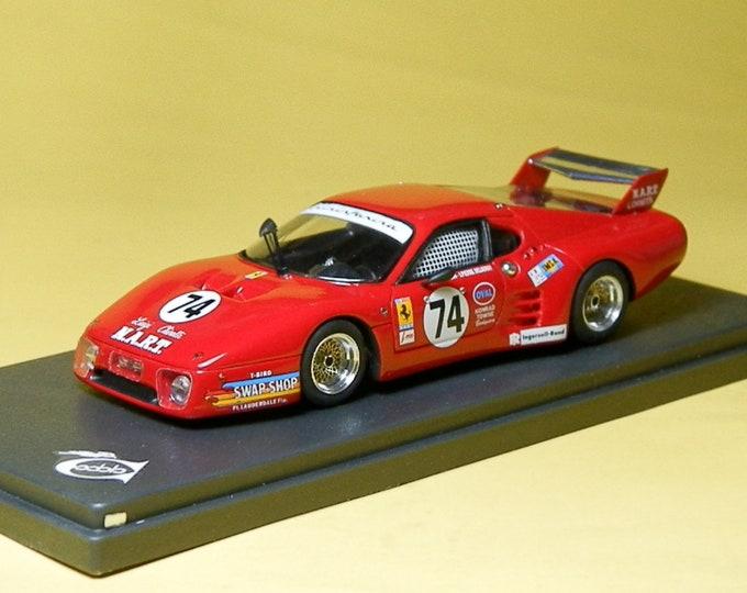 Ferrari 512BB-LM Imsa NART Le Mans 1980 #74 Henn/Delaunay REMEMBER Models 1:43 - Factory built