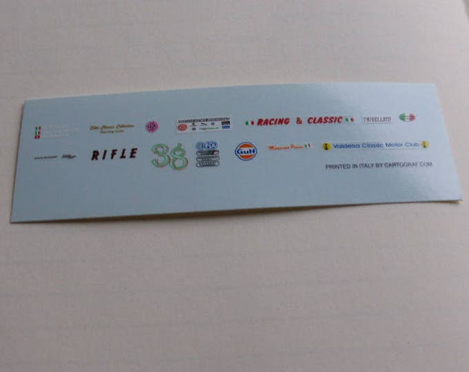 high quality 1:43 decals different logos Rcing&Classic, Valdelsa Classic, Trivellato, Gulf etc