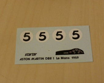 high quality 1:43 decals Aston Martin DBR1 Le Mans 1959 winner Salvadori/Shelby Starter