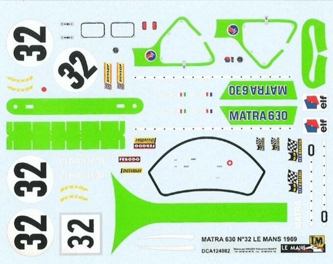 high quality 1:24 decals sheet Matra MS630 Le Mans 1969 #32 Le Mans Miniatures DCA124082
