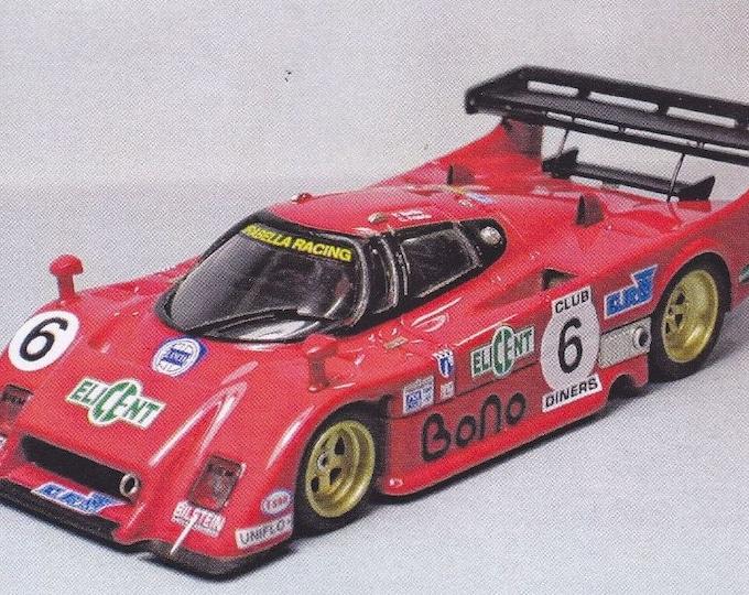 Lancia LC2 Group C Mirabella Racing 1983 season various versions (Imola, Spa, Mugello, Silverstone, Nurburgring) kit Madyero 1:43