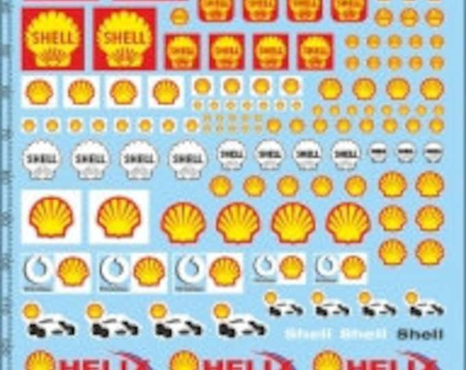 high quality decals sheet with 1:24 shell logos old and new many sizes and styles Tin Wizard PP04-24
