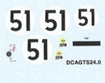 decals set for CD Peugeot Le Mans 1966 #51 1:43 scale Le Mans Miniatures DCAGTS24-0