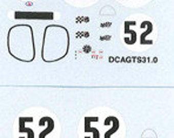 decals sheet for CD Peugeot Le Mans 1967 #52 1:43 scale Le Mans Miniatures DCAGTS31-0