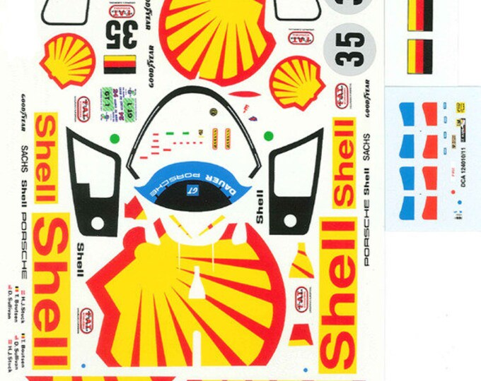 high quality 1:24 decals sheet Dauer Porsche 962 GT Shell Le Mans 1994 #35 Le Mans Miniatures DCA124011