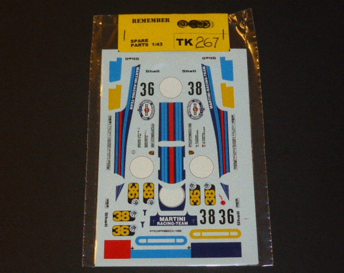 high quality 1:43 decals for Porsche 917K Martini Buenos Aires 1971 #36/38 Remember TK267