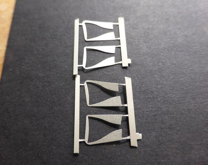 pack of 2 couples of side inlets for Ferrari 512BB-LM 1:43 scale Gemini Modelcars 43PE17