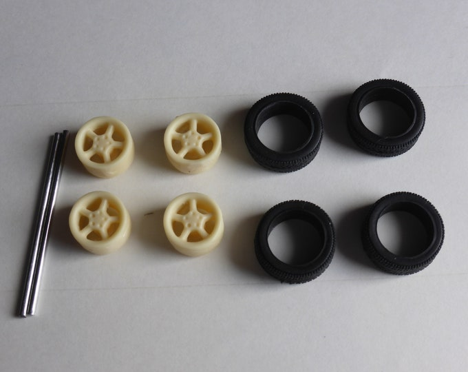high definition 5-spokes wheels set for sports and GT road cars (Porsche, BMW, Mercedes etc) Remember W50 1:43