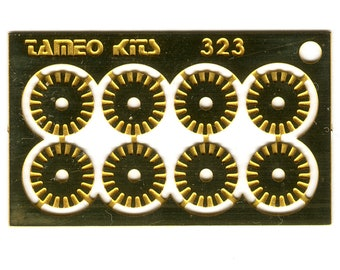 photo etched 1:43 brake discs for road and racing cars mm 6.2 (8 pieces) type-A Tameo FT49