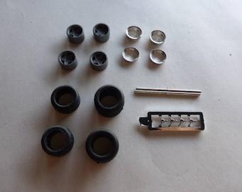 turned and plastic wheels set for Ferrari 330 P4 / 412P / 330 P3 Remember W08 1:43