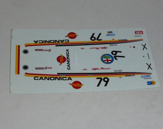 high quality 1:43 decals Alfa Romeo 75 Evolution GrA ETCC 1987 Canonica Cipriani/Voulaz