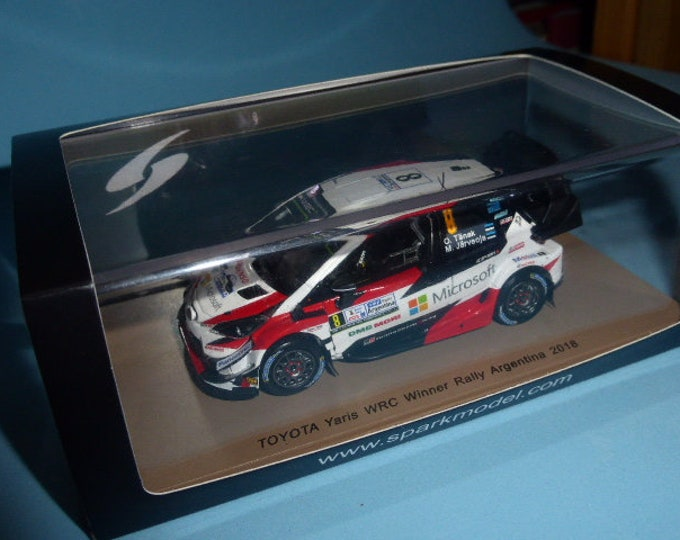 Toyota Yaris WRC Rally Argentina 2018 winner Tanak Spark S5971 1:43 SHIPPING OFFERED
