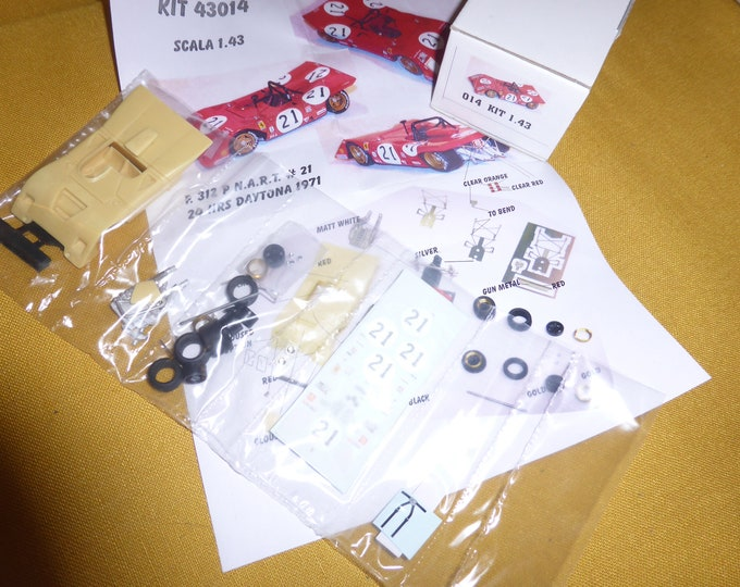 Ferrari 312P chassis 0872 NART 24h Daytona 1971 #21 Garcia-Veiga/Chinetti/De Cadenet kit MG Model 43014 1:43