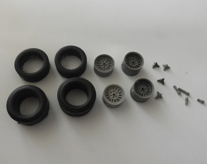 1:24 wheels, tires and wheelspins for Ford MkIV 1967 and other prototypes of the 60-70s Le Mans Miniatures ACW124015