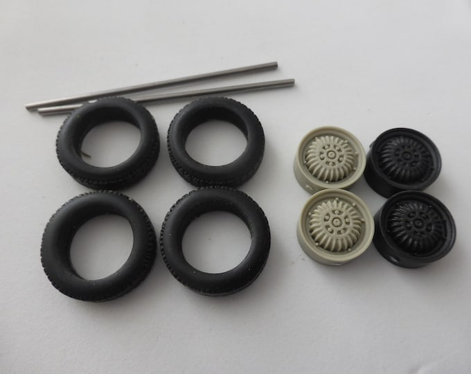 1:24 wheels and tires for Le Mans DB Panhard and other prototypes of the 50s Le Mans Miniatures ACW124009