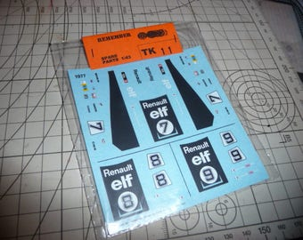 high quality 1:43 decals Alpine Renault A442 Le Mans 1977 #7-8-9 Remember TK11