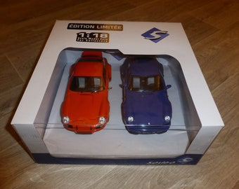 Porsche 911 Carrera RSR 2.8 and 964 Carrera RS special set limited edition Solido 1:18 for French market