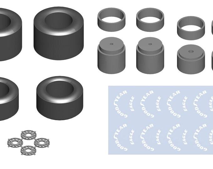 high definition BBS set for modern Formula 1 cars with Goodyear decals Tameo PWT06 1:43