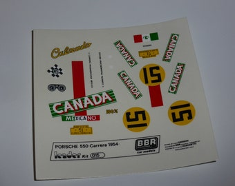 high quality 1:43 decals Porsche 550 Carrera Panamericana 1954 #51 Leader-BBR #015