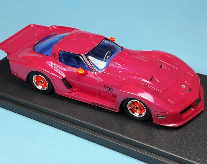 Chevrolet Corvette Turbo Special Greenwood 1981 violet with blue interiors REMEMBER Models 1:43 - Factory built