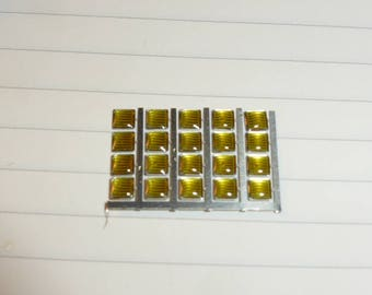 high quality photoetched+resin lights square yellow mm 3.0 FLQ3 for model cars and other models