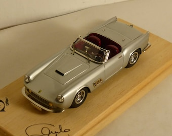 Ferrari 250 GT LWB California Spyder silver with red interiors 1:43 AMR built by Remember Models Studio