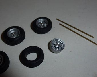 photo etched and turned wire Borrani wheels set for Ferrari 250 GTO, 250LM, 250SWB Remember W14 1:43